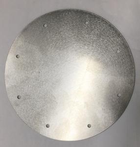 ステンレス 円板 バイブレーション加工