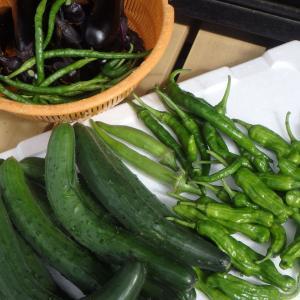 今日のメニューは自家製野菜で。