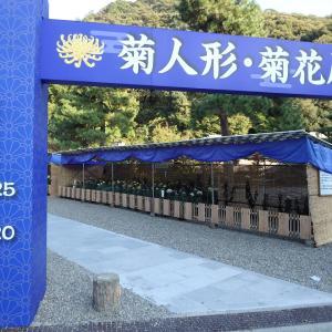 『岐阜公園の菊人形と菊花展』