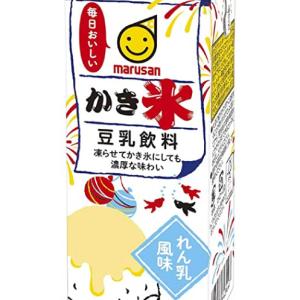 アマゾンプライムの方はお買い得! マルサン 豆乳飲料 かき氷 れん乳風味 200ml ×24本 が激安!の巻