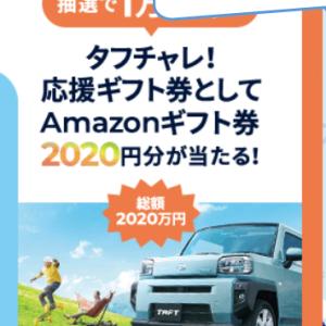 Amazonギフト2020円当たる?の巻