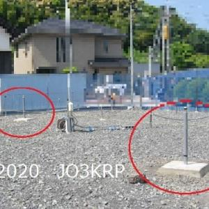 過去のHP記事再現(32)アンテナプロジェクト(14)基礎工事(8)アンテナ支持基礎(5)コンクリート工事と完成姿