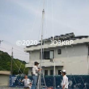 過去のHP記事再現(41)アンテナプロジェクト(23)エレメント設置工事(3)ロープ・ステー