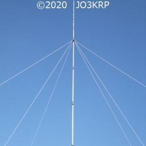 過去のHP記事再現(46)アンテナプロジェクト(28)エレメント設置工事(8)ステー完成姿