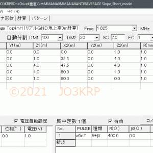 バランの基本と応用(10)ビバレッジアンテナ(7)slope形式のMMANA分析(1)