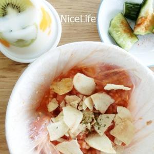 【パッククッキング】簡単トマトリゾット&きゅうりのすし酢マリネ、煮豚も作りました!