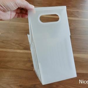 【セリア】ファイルボックスで水の隙間収納&【ヤマト】ロールフセンで賞味期限管理