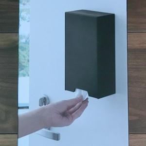 【山崎実業】玄関ドアにマスクや衛生品を貼る収納