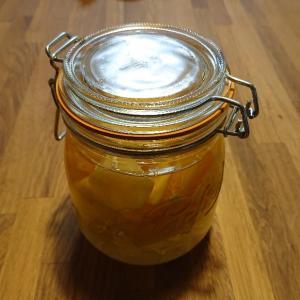 フルーツのりんご酢漬けを作ってみた。