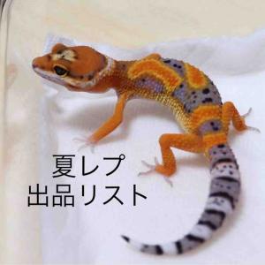 2019ジャパンレプタイルズショー夏2Days!!出品リスト