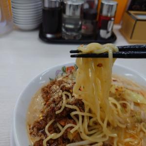 むせて麺が吸えない、強烈な担々麺 _ 野菜たっぷり旨辛担々麺(京都王将、西宮北口)