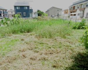炎天下で草刈り作業!雑草が大きくなり周りに迷惑をかける