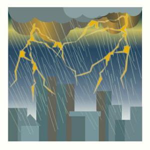 大気が不安定の日がつづき雷雨に注意!