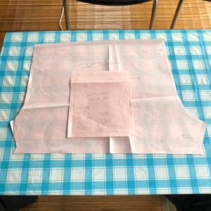 セリアのカットクロスで肩紐付きショートパンツを作ってみた。