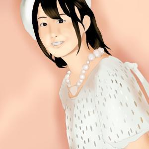 小松未可子を描く その6の3 塗り
