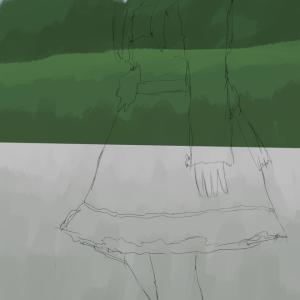 上坂すみれを描く その4の2 背景を塗る
