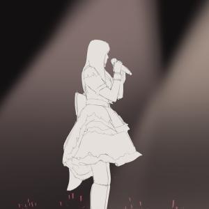 アイドルマスターシンデレラガールズの衣装の二人を描く その7 福原綾香と原紗友里 3rdライブの衣装から