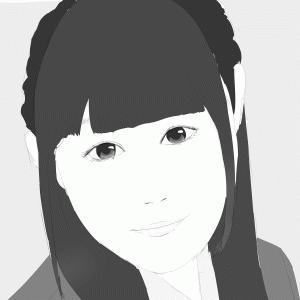 女性声優の小倉唯を描く その11 スケッチ+べた塗り