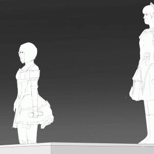 アイドルマスターの10thLIVEを描く その20 浅倉杏美と五十嵐裕美のスケッチ