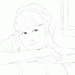 女性声優の伊波杏樹を描く その2 スケッチ