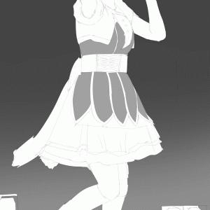 アイドルマスターの中村繪里子を描く その81 スケッチ
