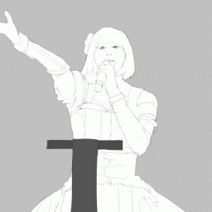 アイドルマスターの衣装の浅倉杏美を描く その19 スケッチ