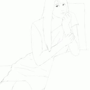 女性声優の雨宮天を描く その2 スケッチ