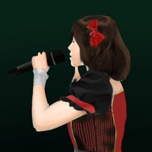 アイドルマスターの中村繪里子を描く その76の3 スケッチを塗る