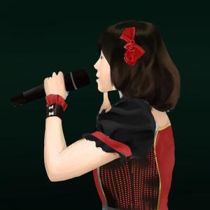 アイドルマスターの中村繪里子を描く その76の4 スケッチを塗り進める