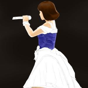 アイドルマスターの衣装の原紗友里を描く その9の2 スケッチ