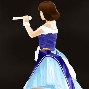 アイドルマスターの衣装の原紗友里を描く その9の3 スケッチを塗り進める