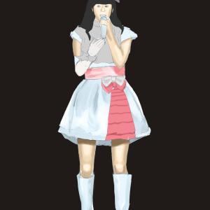 アイドルマスターの衣装の釘宮理恵を描く その48の3 塗り