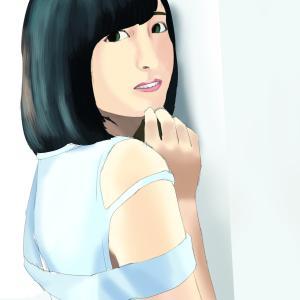 女性声優の佐倉綾音を描く その3の5 塗り