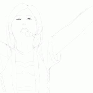 アイドルマスターの衣装の沼倉愛美を描く その46 スケッチ