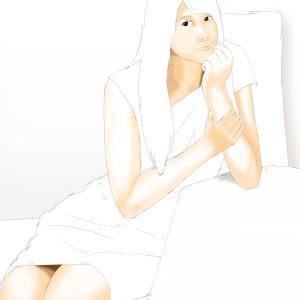 女性声優の雨宮天を描く その2の2 肌色を塗り進める