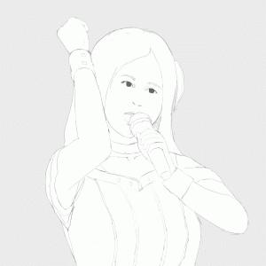 アイドルマスターの原由実をイメージから描く その10の2 10thライブの衣装