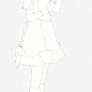 アイドルマスターの中村繪里子を描く その84 スケッチ