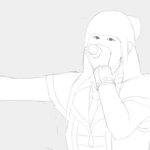 アイドルマスターの10thLIVEを描く その32 田所あすざをスケッチ