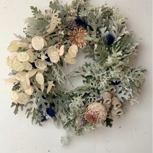 *今日はXmas wreath lessonでした。