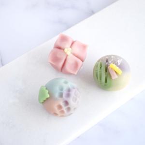 紫陽花と七夕の練り切り オンライン和菓子レッスン アメリカ国内材料お送りいたします