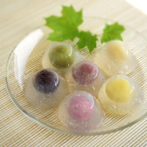 【オンラインレッスン:7月】水まんじゅう&葛きり 透明感が涼しげな葛の和菓子づくり