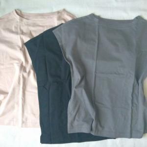 【無印】一気に3枚イロチ買いした「フレンチスリーブTシャツ」
