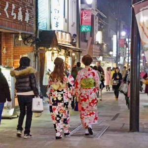 夜の鎌倉(小町通り・鶴岡八幡宮)