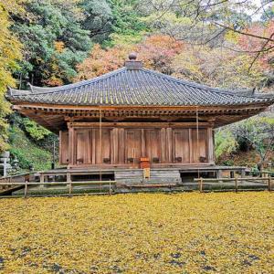 富貴寺(ふきじ)紅葉の大堂