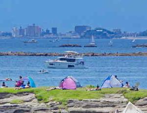 夏の海 長者ヶ崎(ちょうじゃがさき)大浜海水浴場・一色海岸