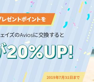 【7月31日まで】ワールドプレゼントポイントからaviosへのポイント移行レートが20%UP!  慌ててドットマネーポイントからの交換を始めてみました。