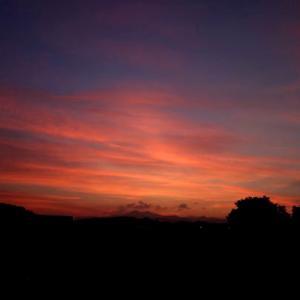 昨日の夕焼け空・・・(●^o^●)