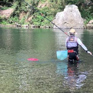 終盤のアユ釣りからタチウオ釣りに切り替えか・・??