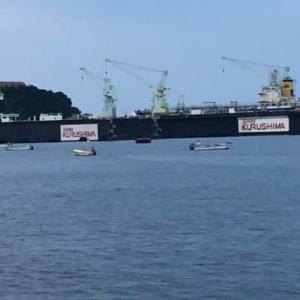 満員御礼の釣り場in小松島新港