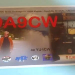 Buro 経由で届いた QSL card 9A9CW ( Croatia )